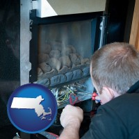 massachusetts a heating contractor servicing a gas fireplace